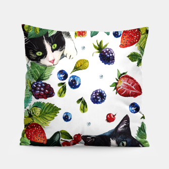 Miniaturka Cats and berries Pillow, Live Heroes