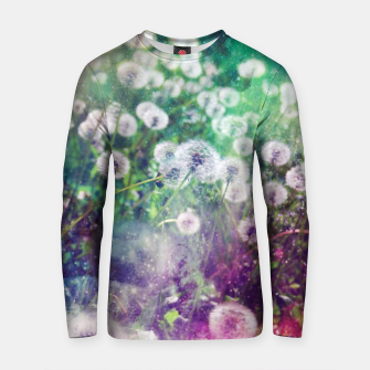 Thumbnail image of White Flowers Dandelions Cotton sweater, Live Heroes