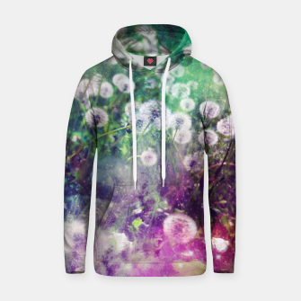 Thumbnail image of White Flowers Dandelions Cotton hoodie, Live Heroes