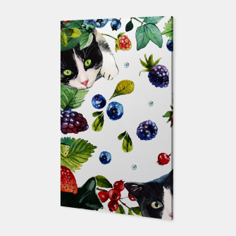 Miniaturka Cats and berries Canvas, Live Heroes