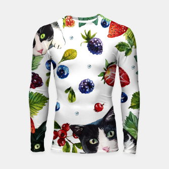 Cats and berries Longsleeve rashguard  Bild der Miniatur