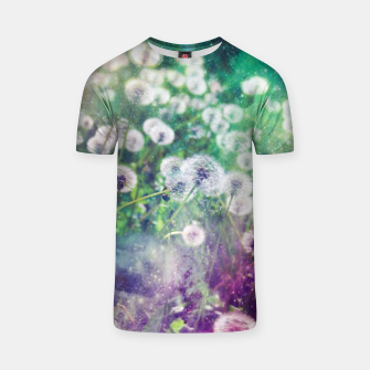 Thumbnail image of White Flowers Dandelions T-shirt, Live Heroes