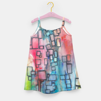 Miniaturka Color Squares Fall Girl's dress, Live Heroes
