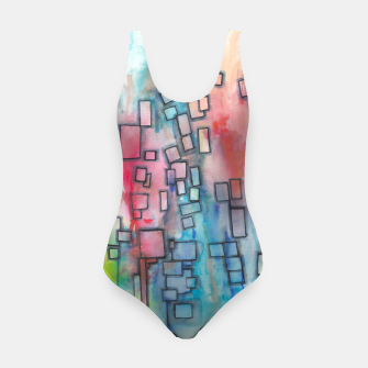 Miniatur Color Squares Fall Swimsuit, Live Heroes
