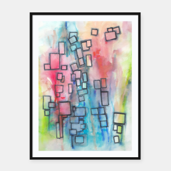 Miniaturka Color Squares Fall Framed poster, Live Heroes