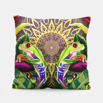 Miniatur double frogs Pillow, Live Heroes