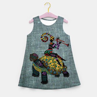 Miniatur African fantasy Girl's summer dress, Live Heroes