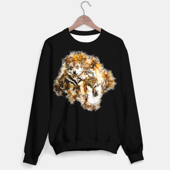 Miniatur gxp wolf team wasserfarbenspritzer - watercolor splash Sweatshirt regulär, Live Heroes