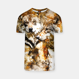Miniatur gxp wolf team wasserfarbenspritzer - watercolor splash T-Shirt, Live Heroes