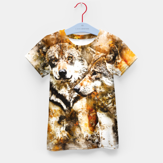 Miniatur gxp wolf team wasserfarbenspritzer - watercolor splash T-Shirt für kinder, Live Heroes
