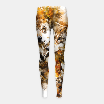 Miniatur gxp wolf team wasserfarbenspritzer - watercolor splash Kinder-Leggins, Live Heroes