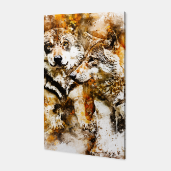 Miniaturka gxp wolf team wasserfarbenspritzer - watercolor splash Canvas, Live Heroes