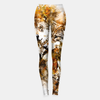 Miniatur gxp wolf team wasserfarbenspritzer - watercolor splash Leggings, Live Heroes