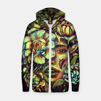 Thumbnail image of Pollinate Cotton zip up hoodie, Live Heroes