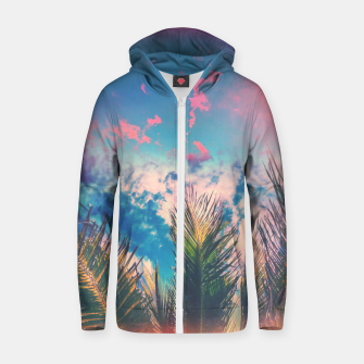 Thumbnail image of Silvery Skies Cotton zip up hoodie, Live Heroes