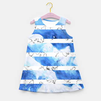 Miniatur Marble Stripes Girl's summer dress, Live Heroes