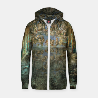 Apocalyptic Vision of the Sistine Chapel Rome 2020 Cotton zip up hoodie imagen en miniatura