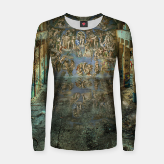 Imagen en miniatura de Apocalyptic Vision of the Sistine Chapel Rome 2020 Woman cotton sweater, Live Heroes