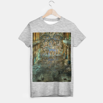 Apocalyptic Vision of the Sistine Chapel Rome 2020 T-shirt regular imagen en miniatura