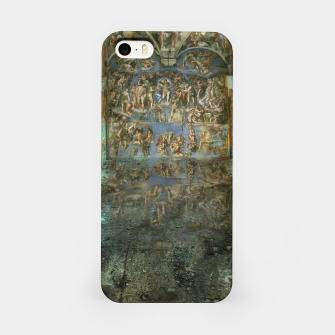 Apocalyptic Vision of the Sistine Chapel Rome 2020 iPhone Case imagen en miniatura