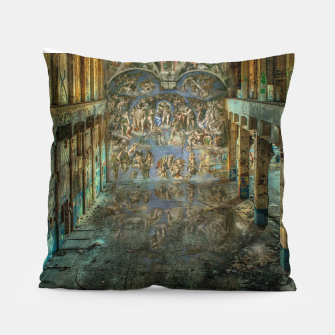 Apocalyptic Vision of the Sistine Chapel Rome 2020 Pillow imagen en miniatura