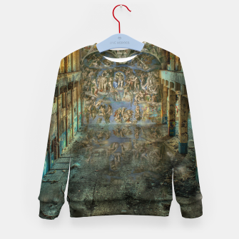 Apocalyptic Vision of the Sistine Chapel Rome 2020 Kid's sweater imagen en miniatura