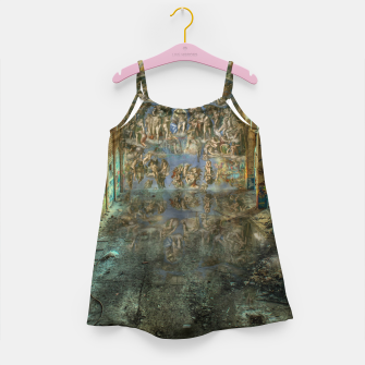 Miniaturka Apocalyptic Vision of the Sistine Chapel Rome 2020 Girl's dress, Live Heroes
