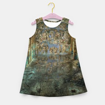 Miniatur Apocalyptic Vision of the Sistine Chapel Rome 2020 Girl's summer dress, Live Heroes