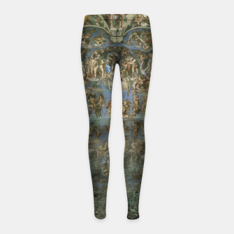Apocalyptic Vision of the Sistine Chapel Rome 2020 Girl's leggings imagen en miniatura