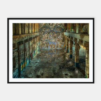 Apocalyptic Vision of the Sistine Chapel Rome 2020 Framed poster imagen en miniatura