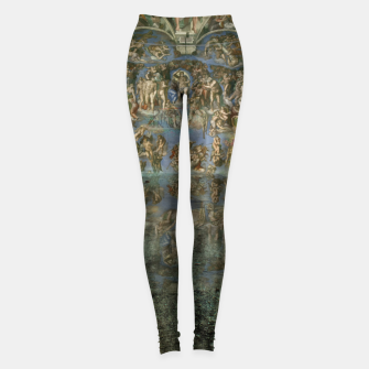 Apocalyptic Vision of the Sistine Chapel Rome 2020 Leggings imagen en miniatura