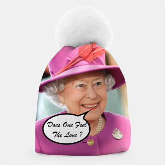 Miniatur The British Queen Elizabeth II Does One Feel The Love Beanie, Live Heroes