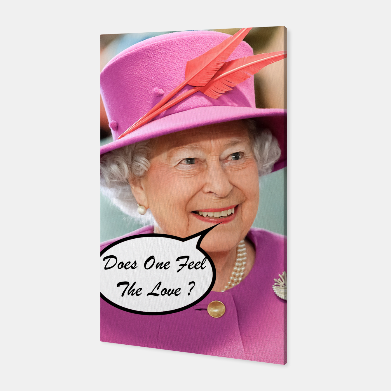 Image of The British Queen Elizabeth II Does One Feel The Love Canvas - Live Heroes
