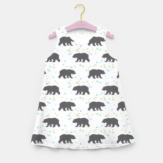 Miniatur Forest Bear Girl's summer dress, Live Heroes