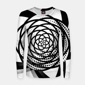 Imagen en miniatura de Black and White Flower Woman cotton sweater, Live Heroes