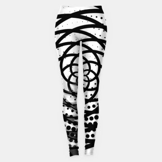 Imagen en miniatura de Black and White Flower Leggings, Live Heroes