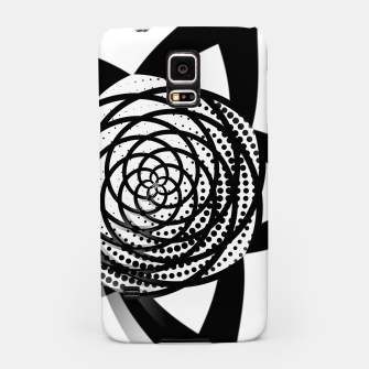 Miniaturka Black and White Flower Samsung Case, Live Heroes