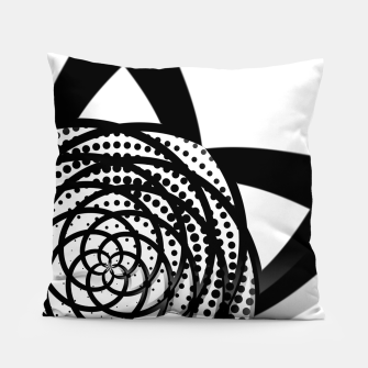 Thumbnail image of Black and White Flower Pillow, Live Heroes