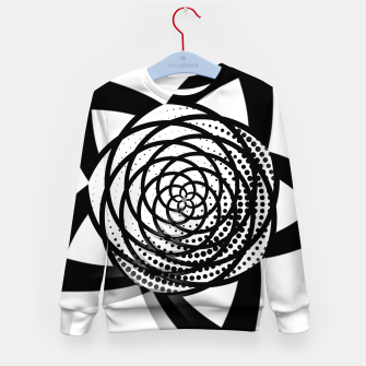 Thumbnail image of Black and White Flower Kid's sweater, Live Heroes