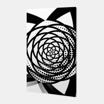 Thumbnail image of Black and White Flower Canvas, Live Heroes