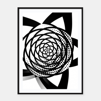 Imagen en miniatura de Black and White Flower Framed poster, Live Heroes