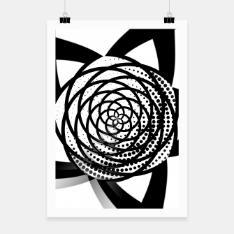 Thumbnail image of Black and White Flower Poster, Live Heroes