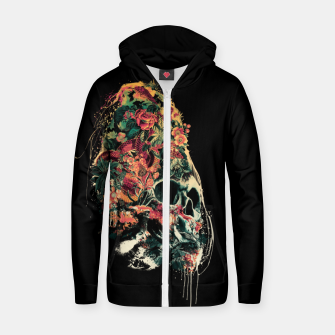 Snake and Skull Cotton zip up hoodie thumbnail image