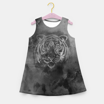 Miniatur Grey tiger Girl's summer dress, Live Heroes