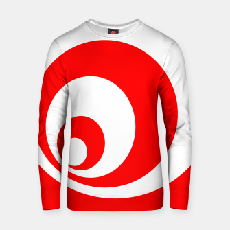 Abstract pattern - red and white. Cotton sweater imagen en miniatura