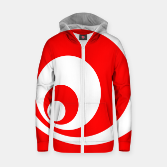 Abstract pattern - red and white. Cotton zip up hoodie imagen en miniatura