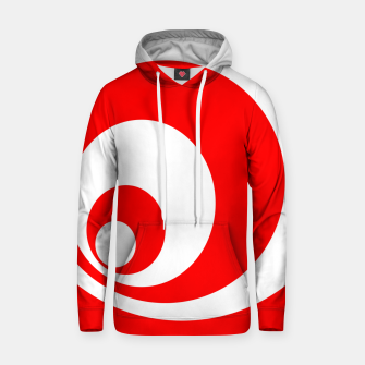 Abstract pattern - red and white. Cotton hoodie imagen en miniatura