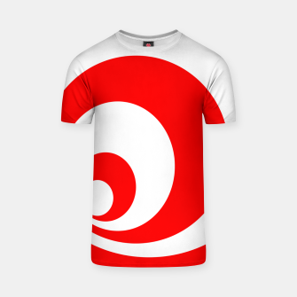 Abstract pattern - red and white. T-shirt imagen en miniatura