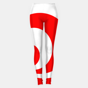 Abstract pattern - red and white. Leggings imagen en miniatura