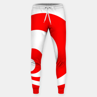 Abstract pattern - red and white. Cotton sweatpants imagen en miniatura